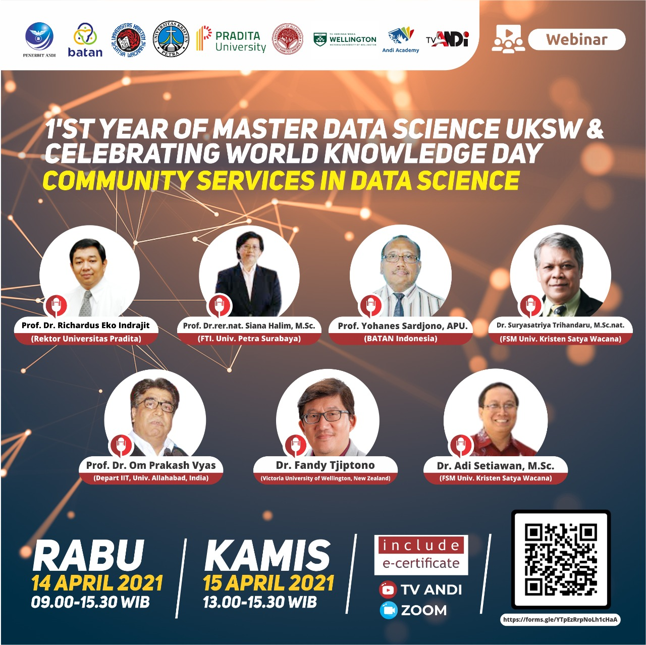 Celebrating 1st year of Master Data Science UKSW and World Knowledge Day